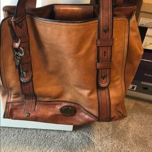 Large fossil tote bag.